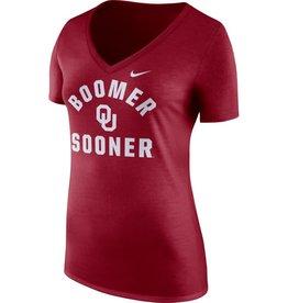 Nike Women's Nike OU Tri-V Boomer Sooner Tee