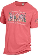 Hanes Comfort Wash The University of Oklahoma Mom Floral Pocket Tee