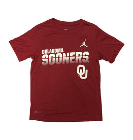 Jordan Jordan Dri-Fit Youth Crimson Oklahoma Sooners Tee