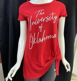 Bamboa Ladies' Bamboa Crimson Oklahoma Short Sleeve Hip Tie Tee