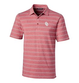 Cutter & Buck Men's Cutter & Buck OU Cardinal Forge Heather Stripe Polo