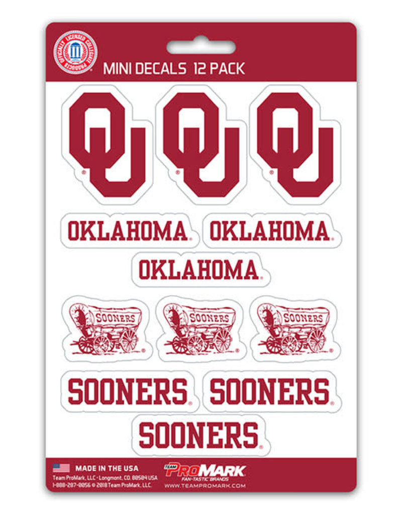 Team ProMark Oklahoma 12pack Mini Decals