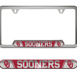 Team ProMark OU Sooners Stainless Steel License Plate Frame