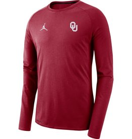 Jordan Men's Jordan J23 OU Crimson Alpha Dry Long-sleeve Top
