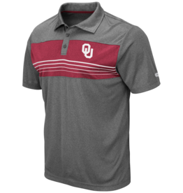 Colosseum Men's Colosseum OU Heathered Color Block w/ Stripes Smithers Polo