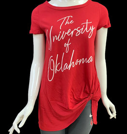 Bamboa Ladies' Bamboa Crimson Oklahoma Short Sleeve Hip Tie Tee
