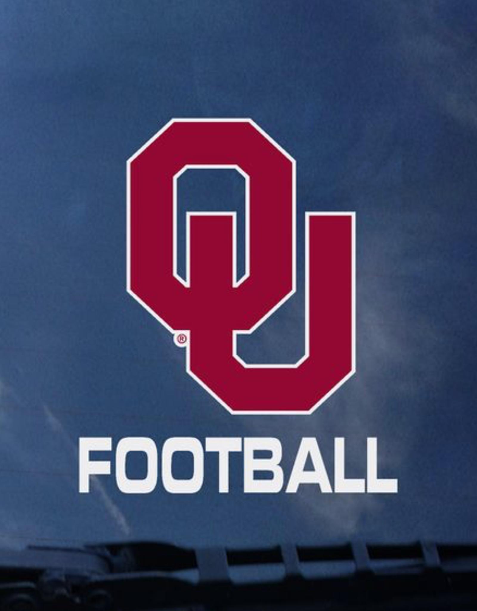 "Color Shock OU Football Vertical Auto Decal 3.6""x3.5"""