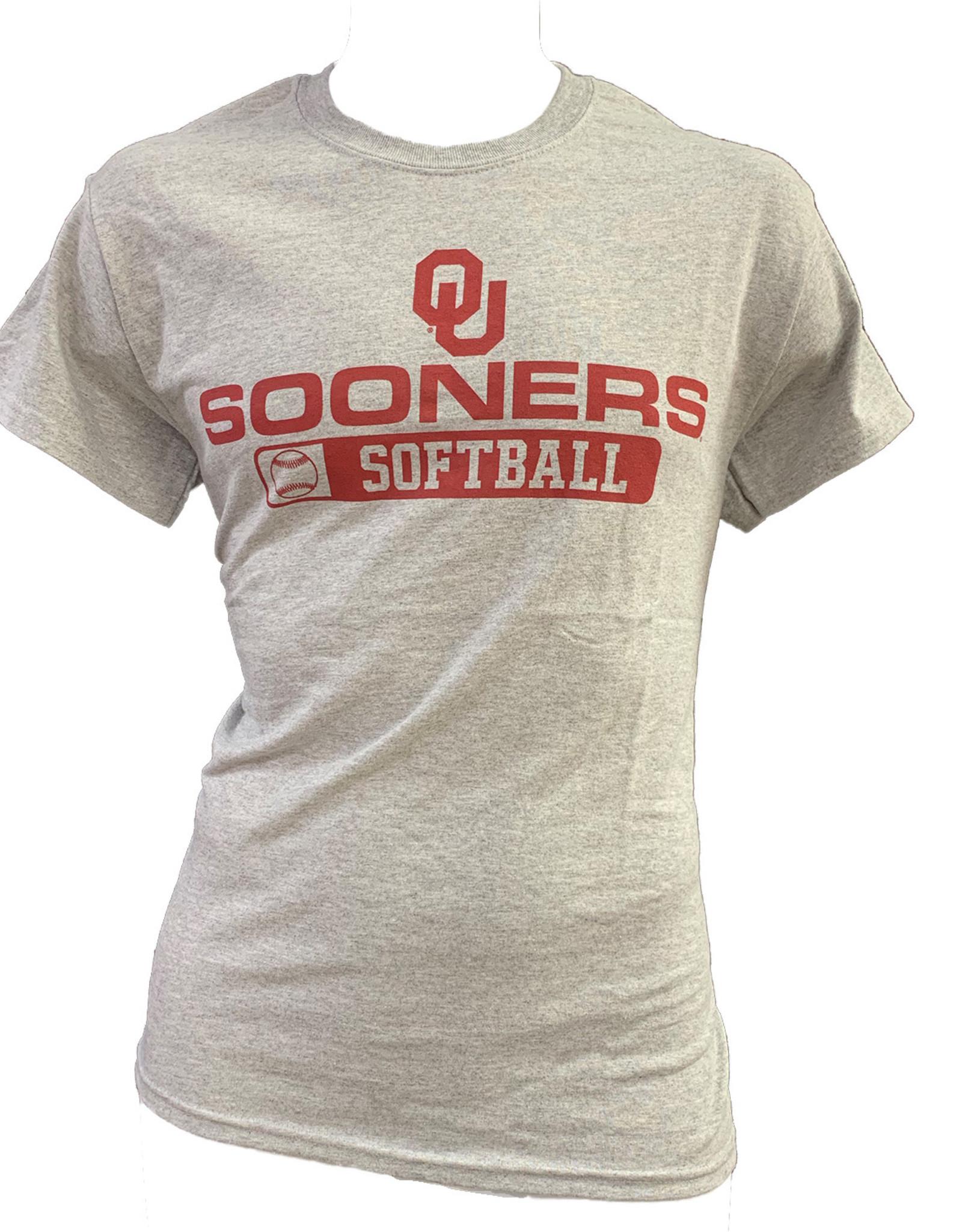Gildan Basic Cotton Tee Oklahoma Softball Athletic Grey
