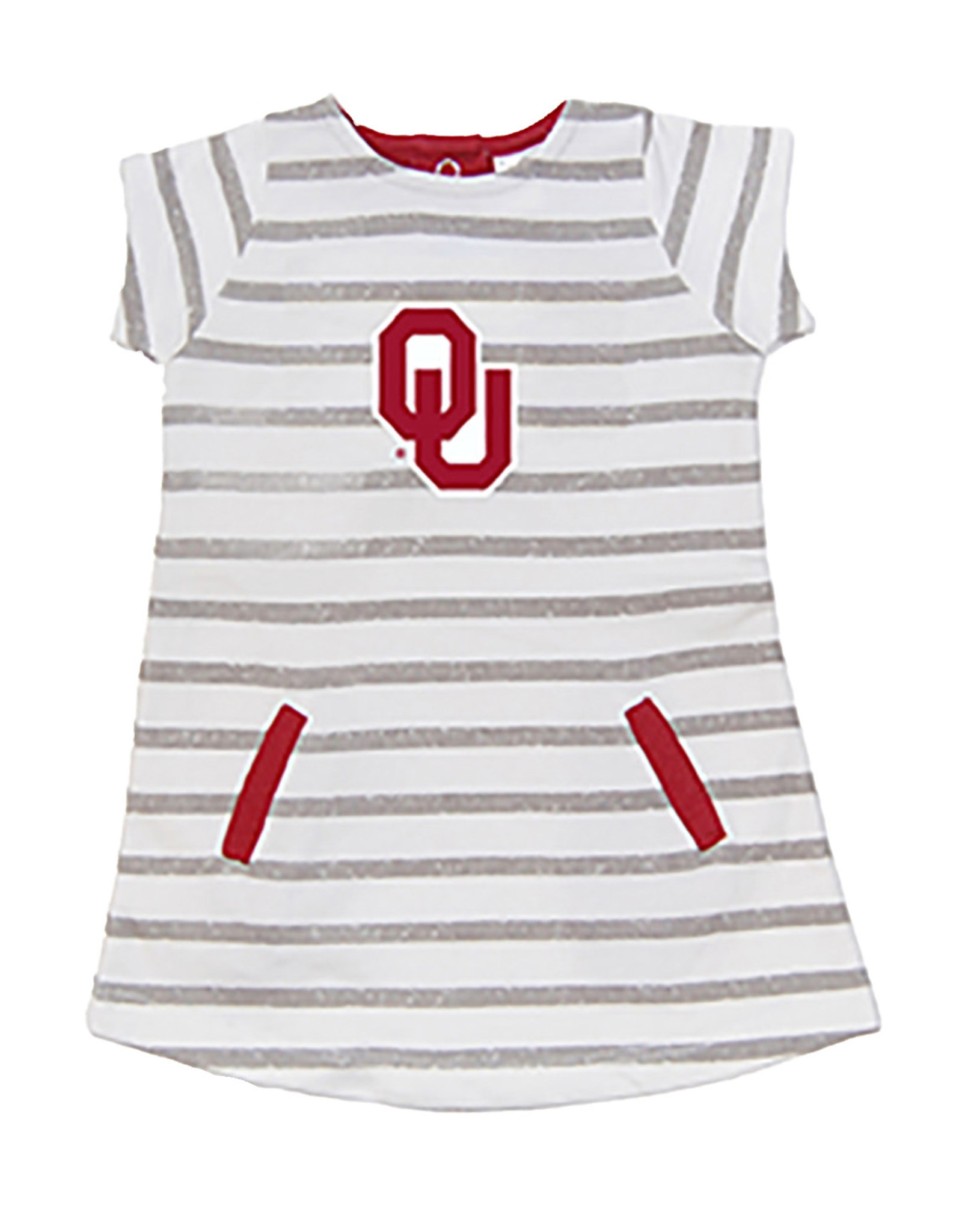 Little King Toddler French Terry Stripe Pocket Dress