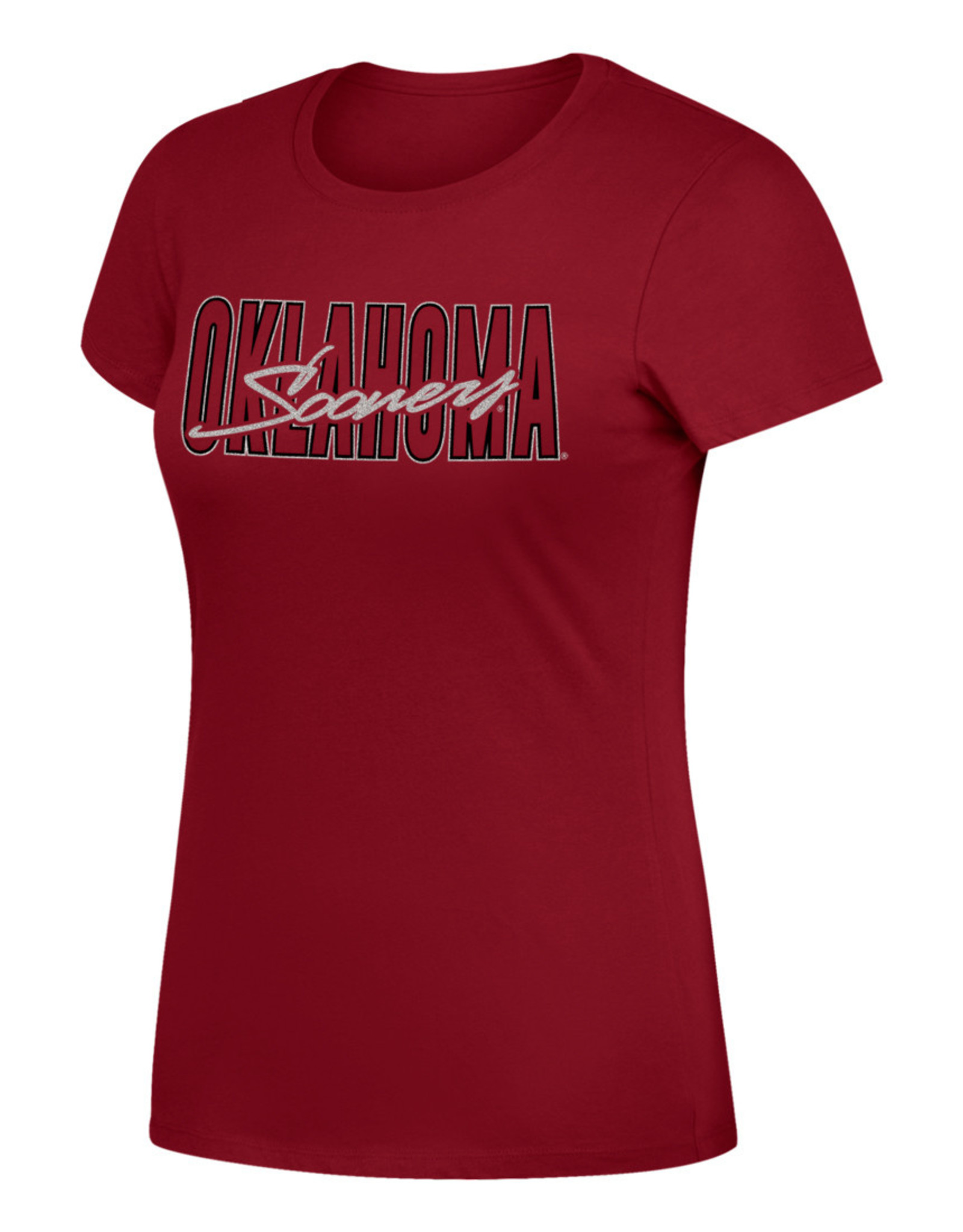 Top of the World Women's TOW Favorite Crew Tee w/ Metalic Silver