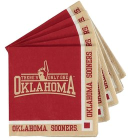 "Creative Converting OU Sooners Beverage Napkins 9 4/5""x9 3/4"" 20 Pack 2-Ply"