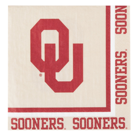 "Creative Converting OU Sooners Paper Napkins 12.75""x12.75"" 20 Pack 2-Ply"