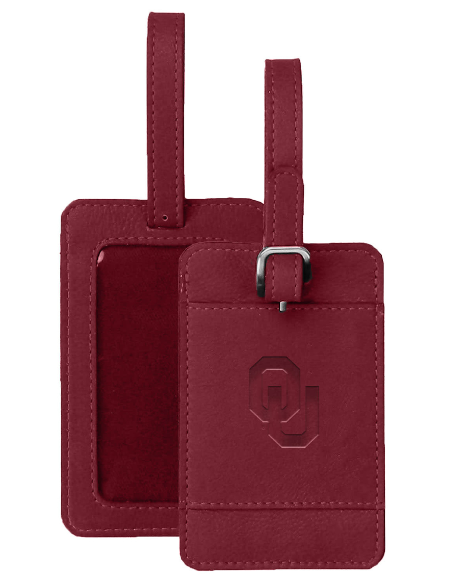 MCM Brands MCM OU Leather Luggage Tag Dk. Red
