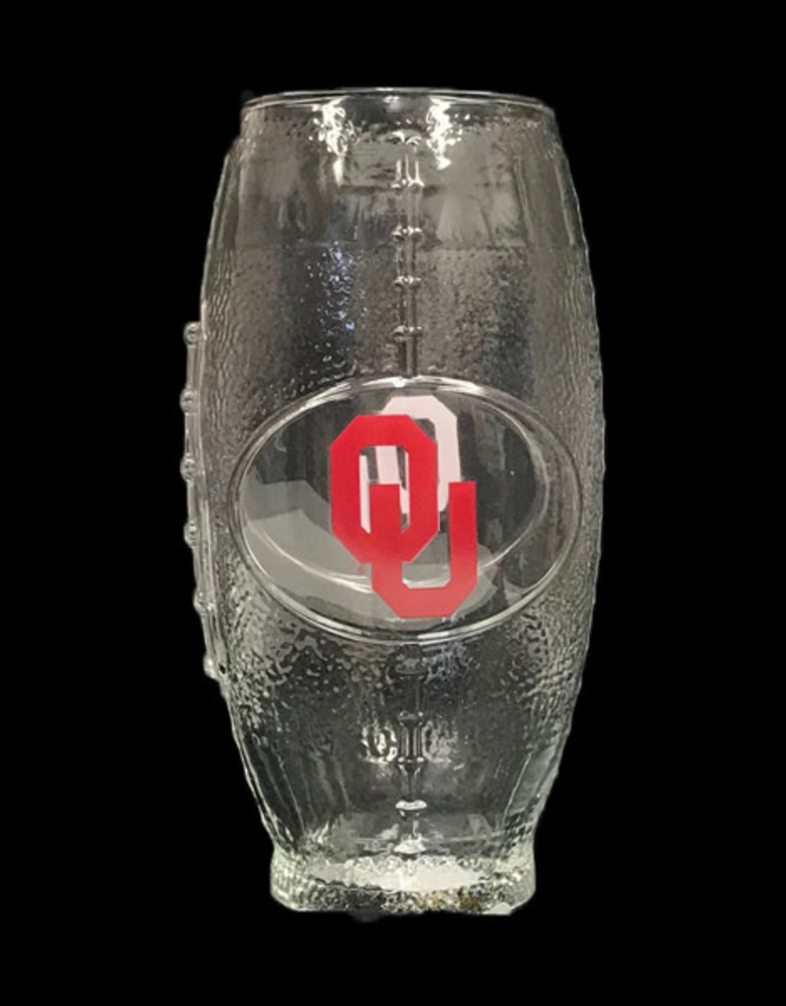 The Memory Company OU Football Shaped Drinking Glass