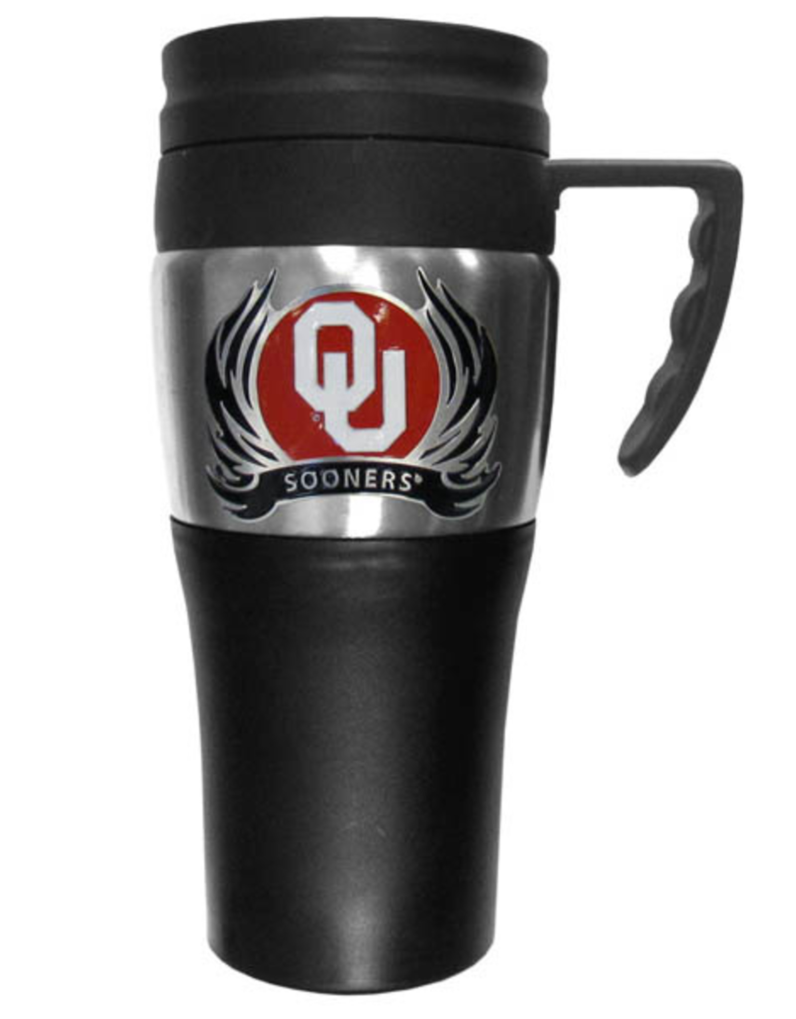 Siskiyou OU Sooners Plastic Travel Mug w/ Handle