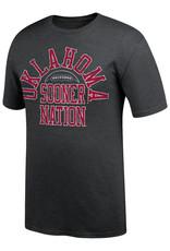 TOW TOW Oklahoma Football Sooner Nation Black Heather Tee