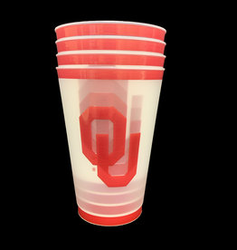 The Waddington Group 20oz Frosted Plastic OU Stadium Cup 4pk