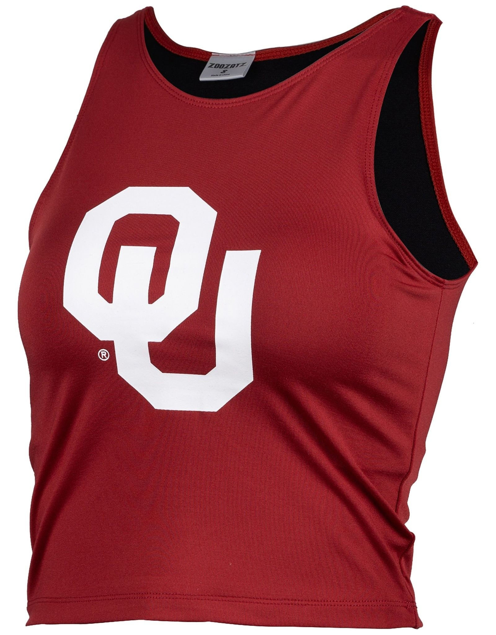 ZooZatz Women's OU Crimson 1st Down Crop