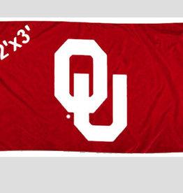 Sewing Concepts OU Crimson 2'x3' Applique Flag (F1)