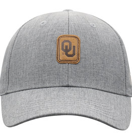 TOW Men's TOW Swing Grey w/ Leather OU Patch Adjustable Hat