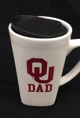 The Fanatic Group 15oz OU Dad Ceramic Cube Mug