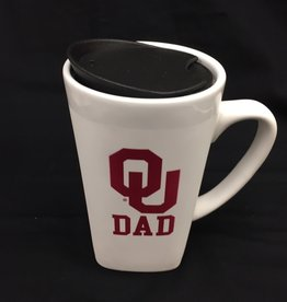 The Fanatic Group 15oz OU Dad Ceramic Cube Mug