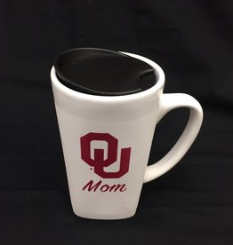 The Fanatic Group 15oz OU Mom Ceramic Cube Mug