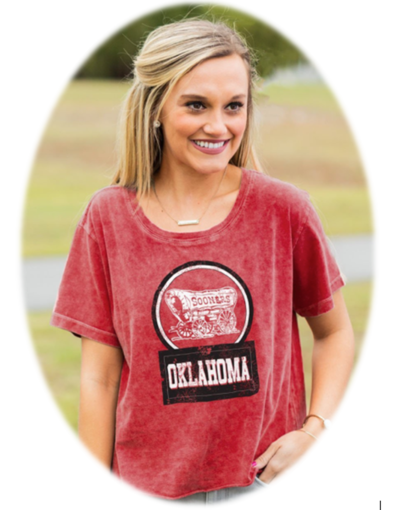 Gameday Couture Women's Gameday Couture Keep It Cropped Snow Wash Top