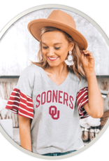 Gameday Couture Women's Gameday Couture Bring It On Striped Flutter Sleeve Top