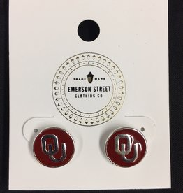 Emerson Street OU Casey Stud Earrings Silver