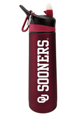 The Fanatic Group OU Sooners Crimson Stainless 24oz Sports Bottle