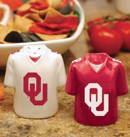 The Memory Company OU Ceramic Jersey Salt & Pepper Shakers