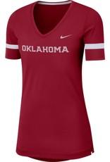 Nike Women's Nike Oklahoma Dry Top Fan V-neck Tee