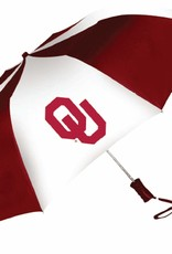 "Storm Duds Storm Duds 48"" OU Crimson & White Folding Umbrella"
