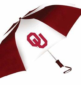 """Storm Duds Storm Duds 48"""" OU Crimson & White Folding Umbrella"""