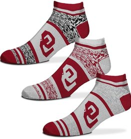 FBF FBF OU 3-Pack Heathered Triplex No-Show Socks