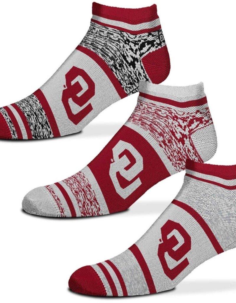 FBF FBF OU 3-Pack Heathered Triplex No-Show Socks