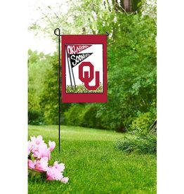 """Magnolia Lane OU Oklahoma Sooners Garden Art Flag 12""""x18"""""""