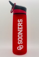 The Fanatic Group OU Sooners Frosted Red Plastic Water Bottle 24oz