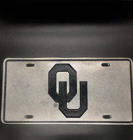 Craftique Craftique Pewter OU License Plate