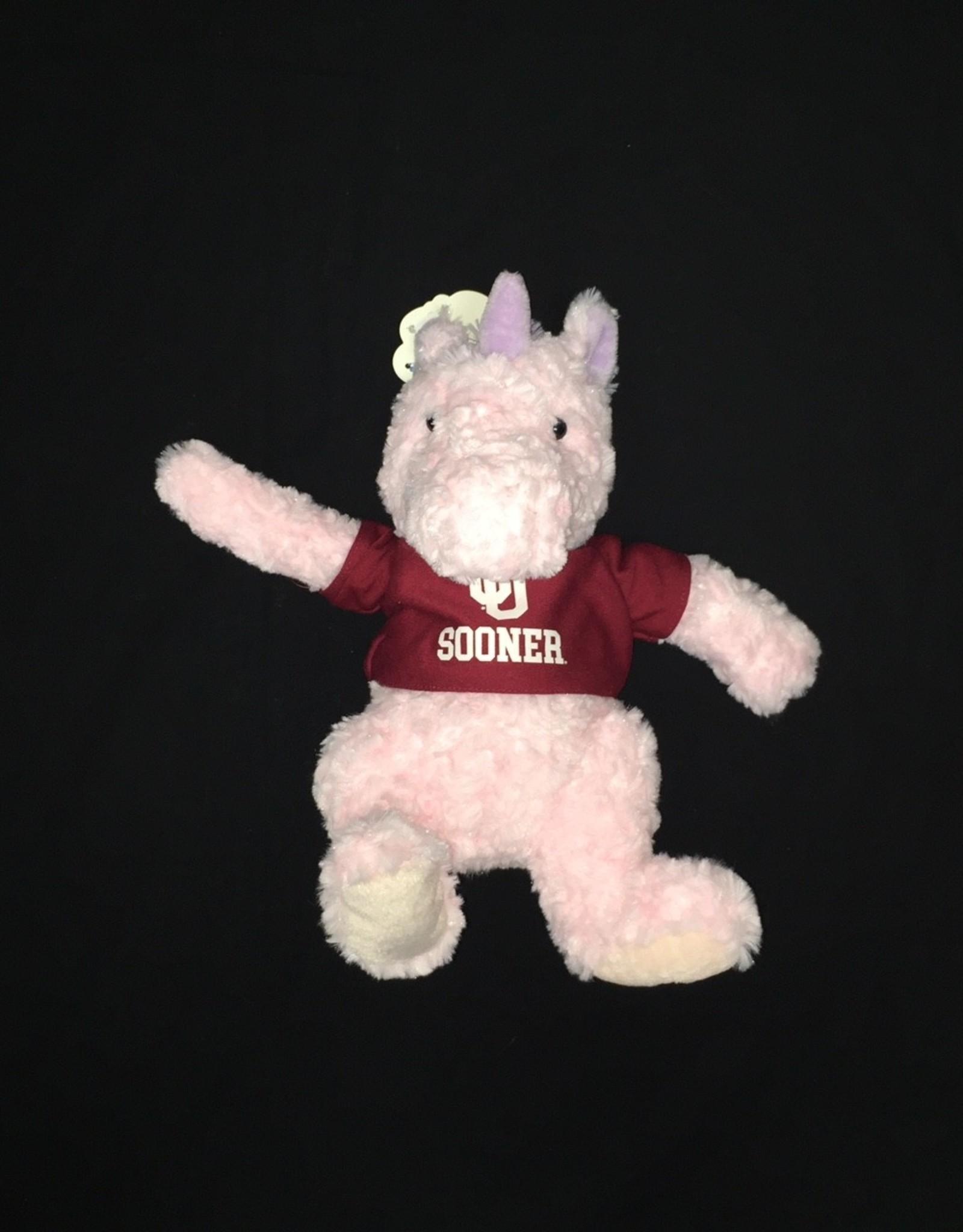 Mascot Factory Cuddle Buddies Pink Unicorn w/ T-Shirt