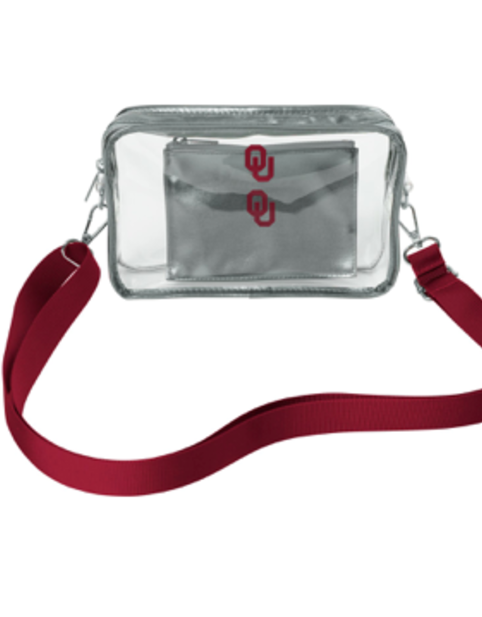 Chicka-d Chicka~d OU Clear Stadium Crossbody w/ Privacy Pouch
