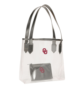 Chicka-d Chicka~d OU Clear Carryall Stadium Tote w/ Privacy Pouch