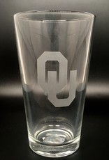 RFSJ Etched Interlocking OU Pint Glass