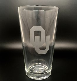 RFSJ Etched Interlocking OU Pint Glass