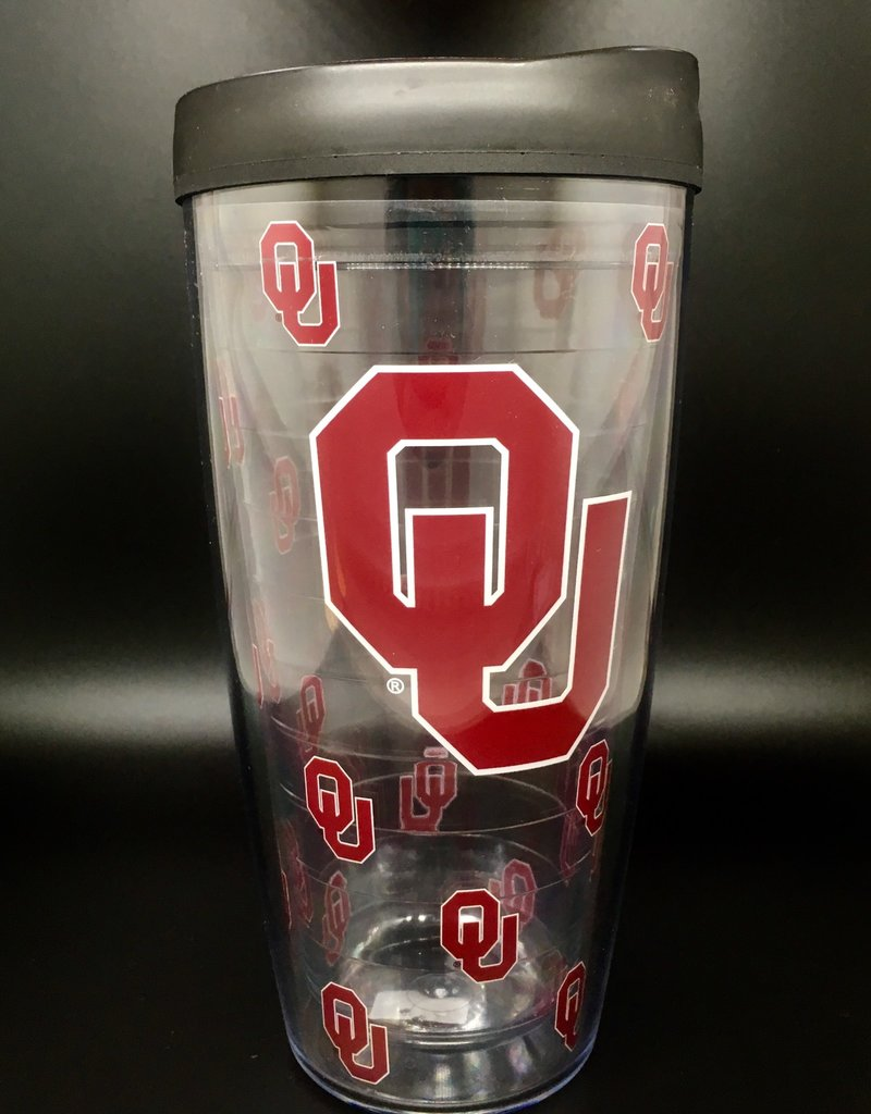 Signature OU Clear Double-Wall 22oz Tumbler with Lid