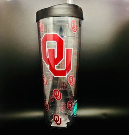 Signature OU Clear Double Wall 30oz Tumbler with Lid/Straw