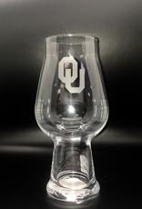 Campus Crystal OU Etched IPA Glass Lead-Free Crystal by Luigi Bormioli