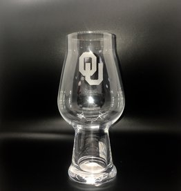 Campus Crystal OU Etched IPA Glass Lead-Free Crystal by Luigi Bormioli