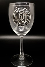 RFSJ OU Pewter Emblem Wine Glass